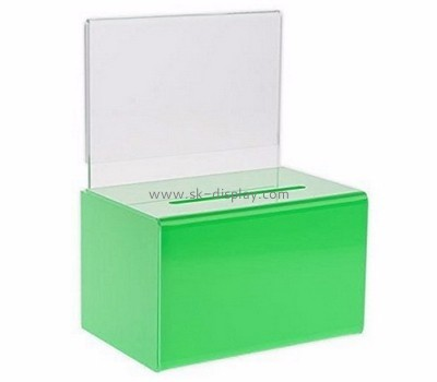 Plastic manufacturers custom perspex fabrication donation collection containers DBS-352