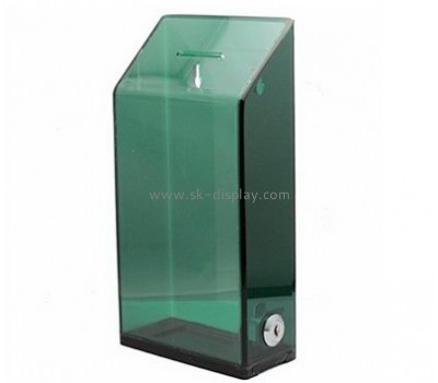 Acrylic items manufacturers custom clear plastic display fundraising boxes DBS-366