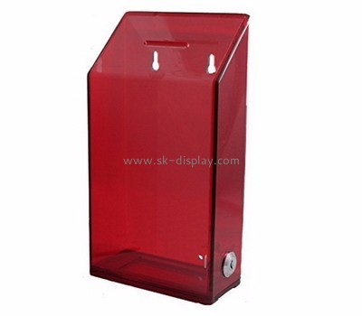 Acrylic box manufacturer custom plexiglass money collection boxes for charity DBS-364