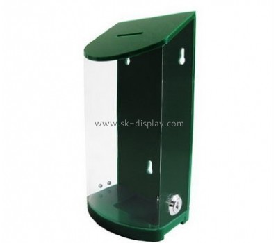Acrylic display manufacturers custom acrylic donation boxes with lock DBS-375