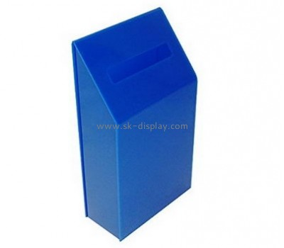 Display case manufacturers custom design plastic collection boxes for charity DBS-383