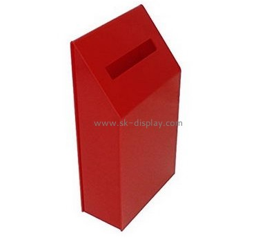 Acrylic manufacturers custom designs perspex donation box DBS-384