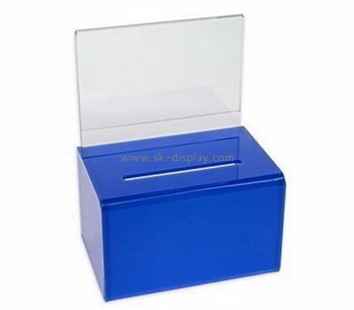 Donation box manufacturer custom designs acrylic donation boxes DBS-421