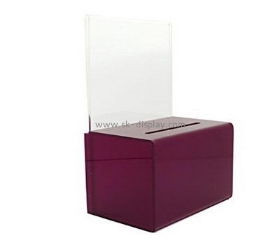 Acrylic display manufacturers custom designs money collection containers DBS-425