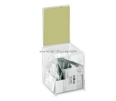 Acrylic products manufacturer custom made acrylic charity display boxes DBS-428