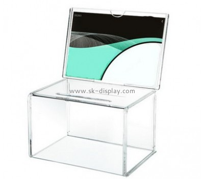 China acrylic manufacturer custom perspex fabrication cheap ballot boxes DBS-445