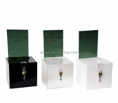Acrylic products manufacturer custom charity collection suggestion boxes for sale DBS-450