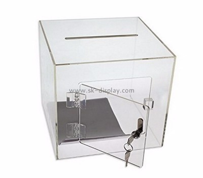 Plastic manufacturers custom design acrylic large collection boxes DBS-454