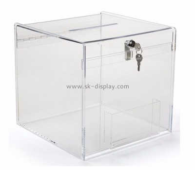 Acrylic plastic supplier custom perspex large donation box DBS-458