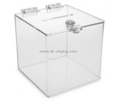 Plastic box manufacturers custom made acrylic large charity collection boxes DBS-459