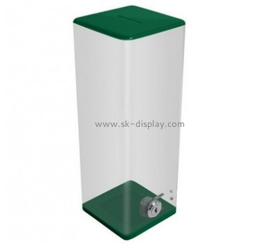 Acrylic display manufacturer custom cheap acrylic plastic ballot boxes DBS-460