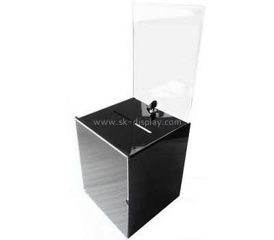 Acrylic manufacturers custom plastic supply and fabrication ballot box DBS-478