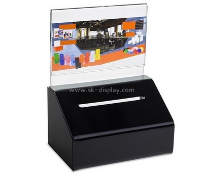 Acrylic manufacturers custom designs acrylic black ballot box DBS-476