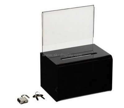 Acrylic display supplier custom acrylic ballot box with lock DBS-477