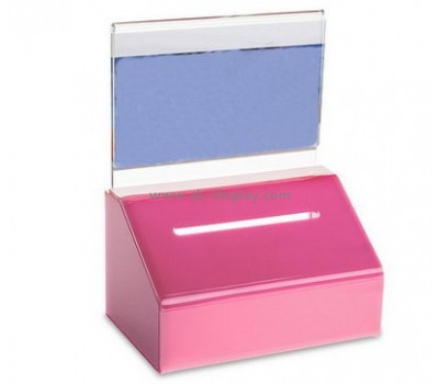 Acrylic display manufacturers custom acrylic fundraising collection boxes DBS-489