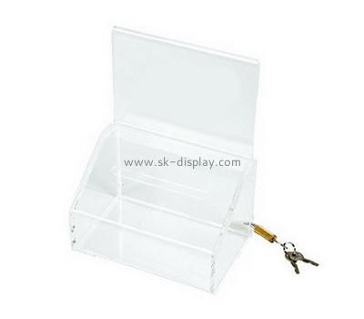 Acrylic boxes suppliers custom acrylic suggestion boxes DBS-495