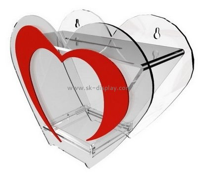 Display box manufacturers custom heart shaped donation charity box DBS-499