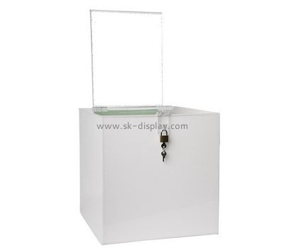Acrylic manufacturers custom fundraising charity donation boxes DBS-508