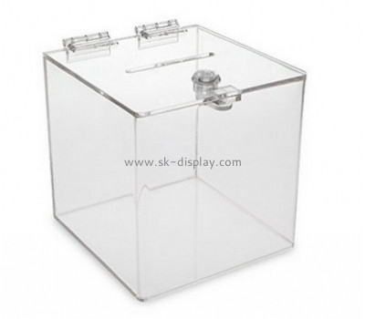Acrylic supplier custom lucite charity donation boxes DBS-510