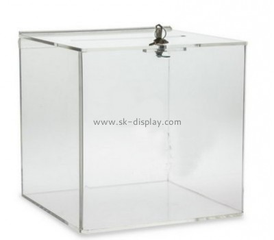 Plexiglass manufacturer custom acrylic fundraising collection boxes DBS-516