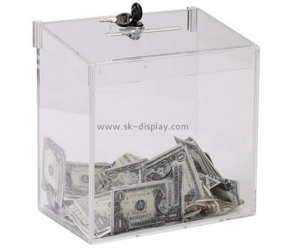 Perspex manufacturers custom cheap acrylic ballot donation boxes DBS-517