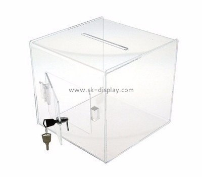 Acrylic display supplier acrylic locked suggestion voting box DBS-525