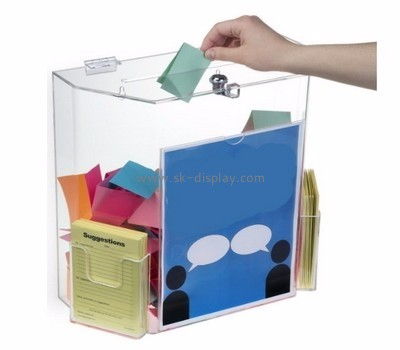 Clear acrylic supplier custom comment suggestion ballot box DBS-526