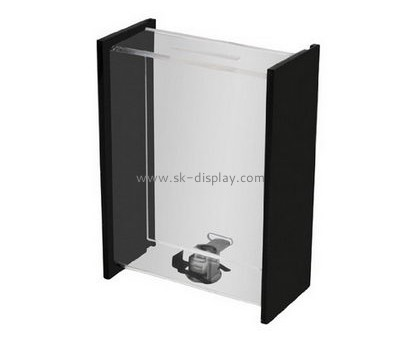Acrylic items manufacturers custom lucite donation lock box DBS-534