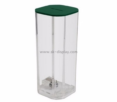 Display box manufacturer custom acrylic charity coin collection boxes DBS-537