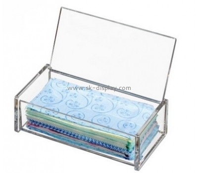 Display manufacturers custom lucite acrylic box with hinged lid DBS-550