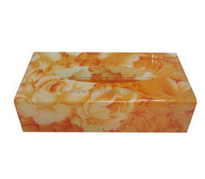 Plastic fabrication company custom acrylic rectangular tissue box DBS-564