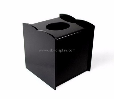 Acrylic plastic supplier custom black tissue paper box DBS-570