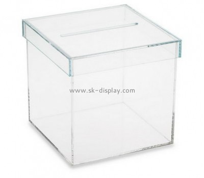 Plastic manufacturing companies custom acrylic box with lid BDC-576