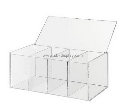 Acrylic items manufacturers custom acrylic plastic compartment boxes DBS-579