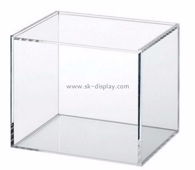 Acrylic products manufacturer custom 5 sided acrylic storage box DBS-580