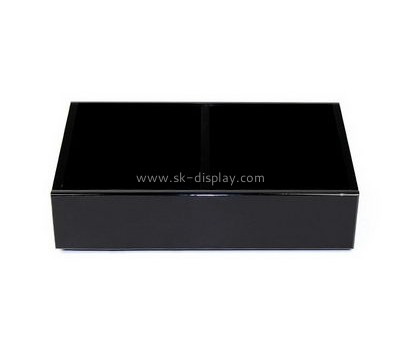 Plastic fabrication company custom black acrylic box with lid DBS-614