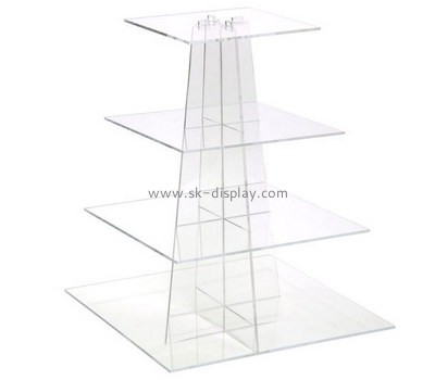 Perspex manufacturers custom acrylic tiered pastry stand FD-090