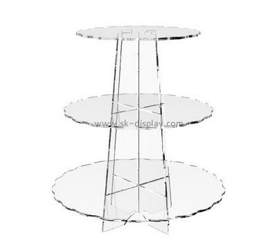 Acrylic products manufacturer custom perspex 3 tier cupcake stand FD-118