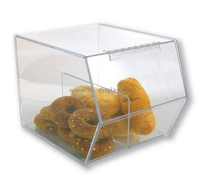 Acrylic boxes suppliers custom lucite food display boxes FD-138