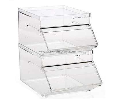 Acrylic plastic manufacturers custom plexiglass pastry display case FD-158