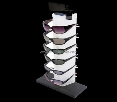 Plexiglass manufacturer custom acrylic sunglasses shelf GD-053