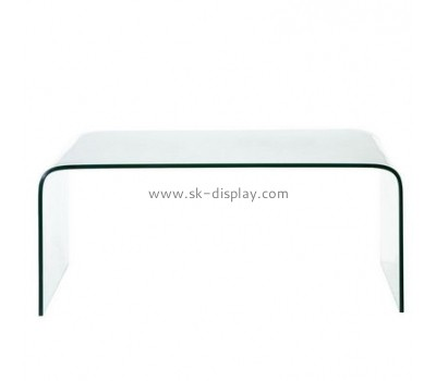 Acrylic display manufacturer custom low narrow coffee table AFS-333