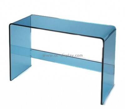 Plastic manufacturing companies custom acrylic very narrow side table AFS-337
