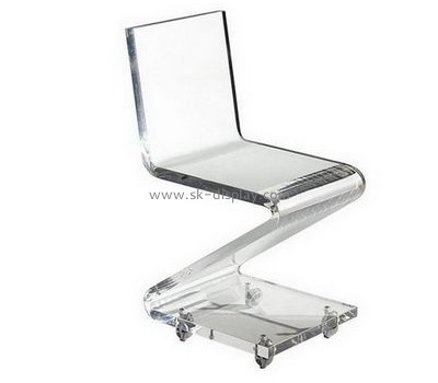 Custom and wholesale oversized clear acrylic swivel chair AFS-355