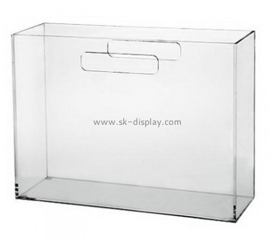 Customized clear acrylic magazine holder BD-081