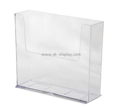Customized clear plastic magazine holders BD-086