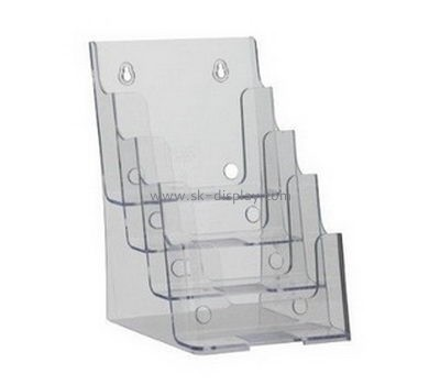 Customized plexiglass pamphlet holder wall mount BD-124