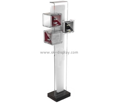 Customized plexiglass trade show brochure stands BD-128