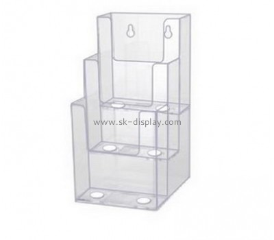 Customized clear acrylic brochure wall display BD-178