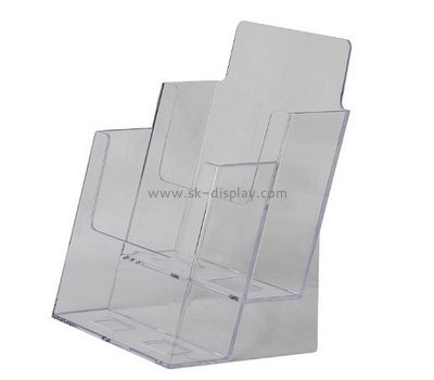 Customized clear plastic pamphlet holders BD-183